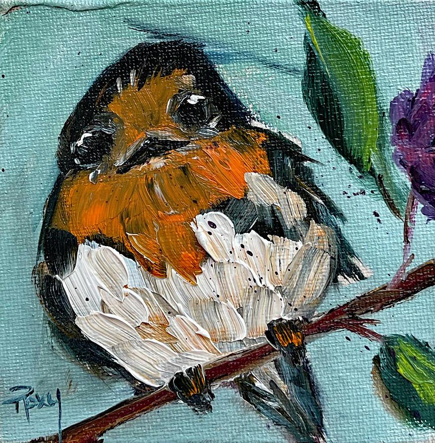 Barn Finch Painting