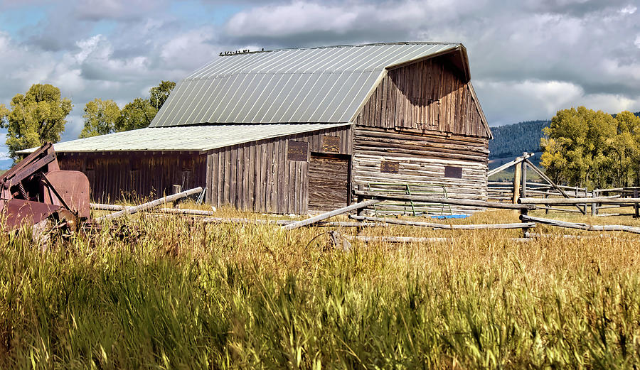 Barn on Mormon Row Grand Tetons by Cathy Anderson