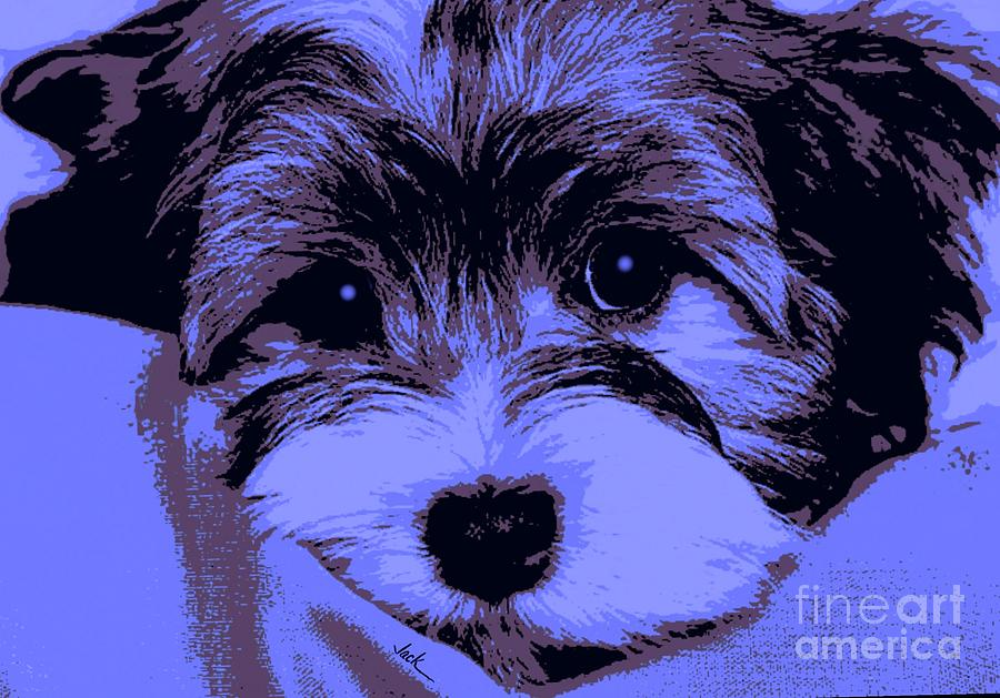 Puppy Painting - Barney by Jack Bunds