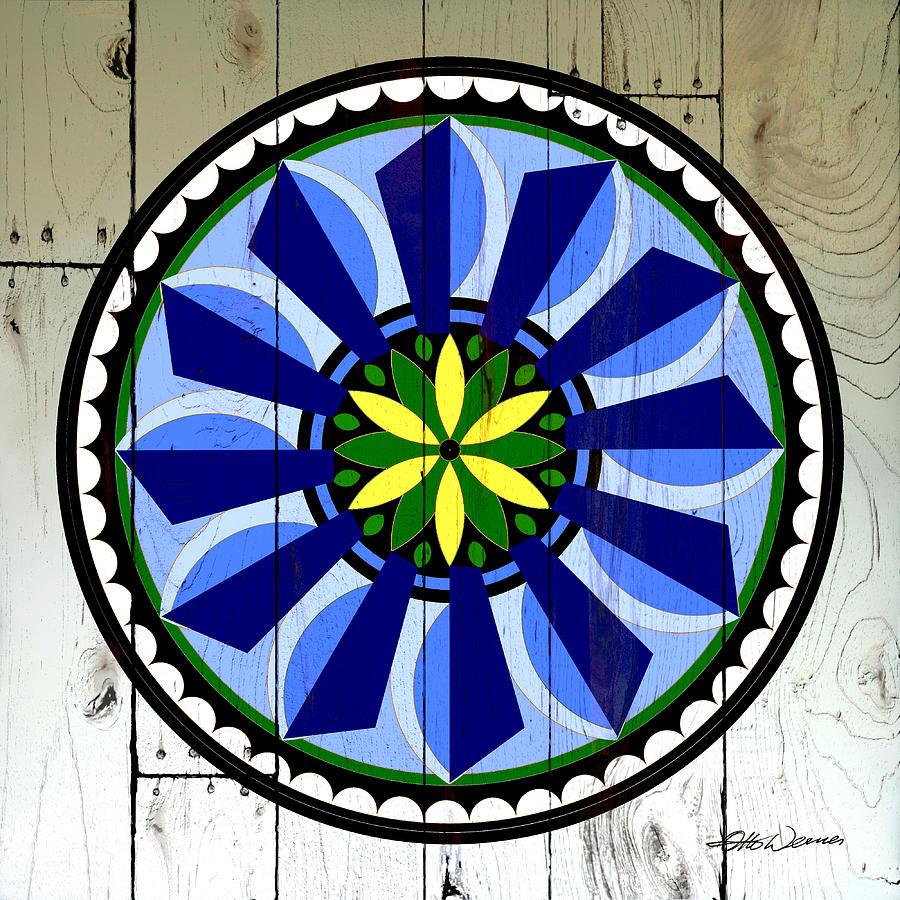 Barnwood Windmill Folk Art Painting