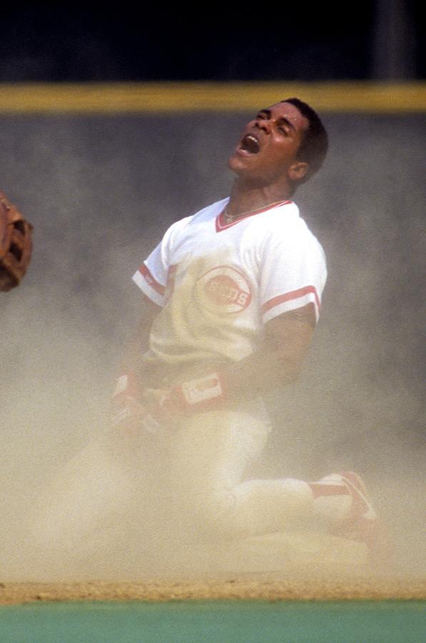 Barry Larkin Photograph by Ronald C. Modra/sports Imagery