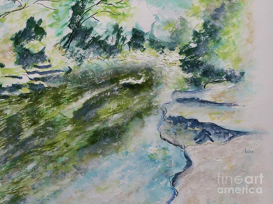 Barton Springs Greenbelt Austin Texas Detail 1 Painting