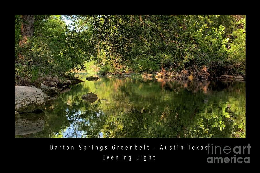 Barton Springs Greenbelt Evening Light Poster Photograph