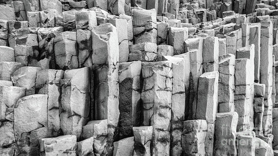 Basalt Columns in black and white by Lyl Dil Creations