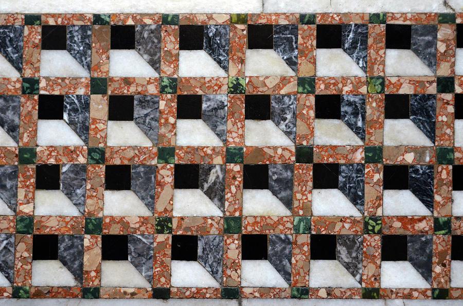 Fotografía de mármol - Basílica de San Marco de mármol 3d mosaico geométrico del mosaico de Venecia Italia por Shawn OBrien