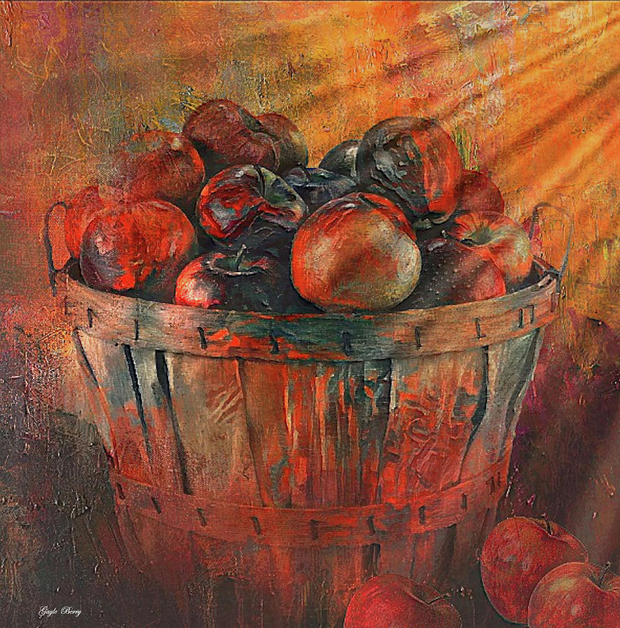 BASKET OF APPLES by G Berry