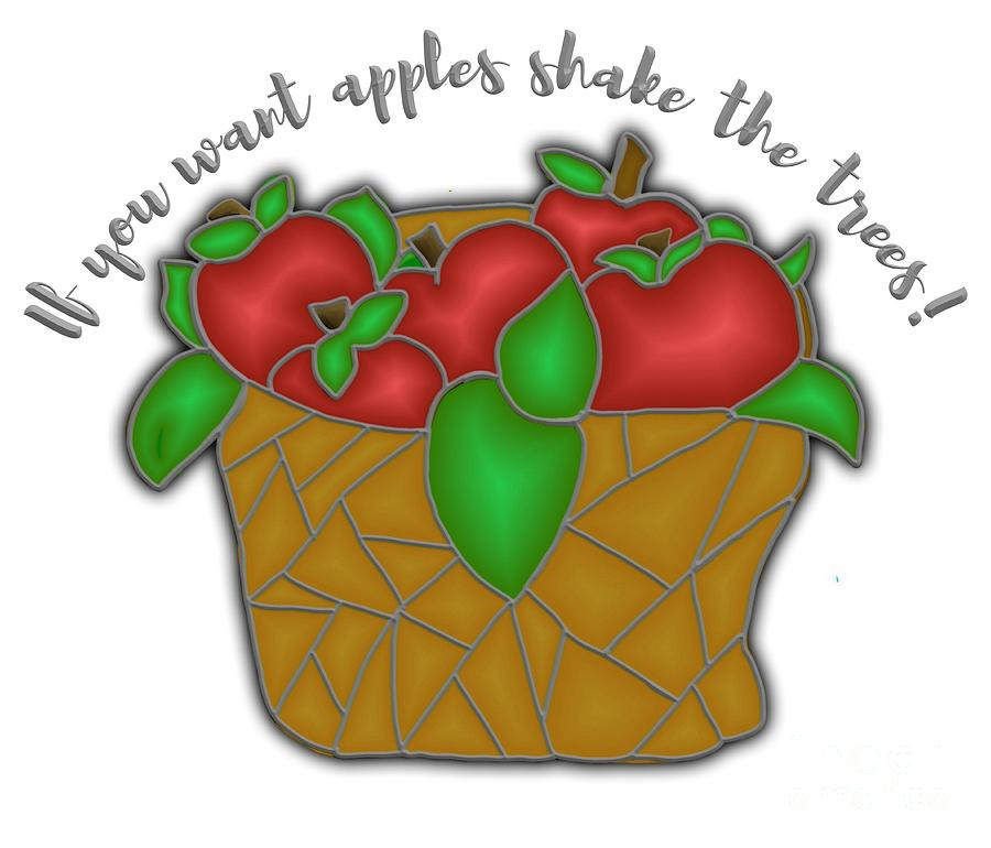 Basket of Apples Stained Glass by Priscilla Wolfe