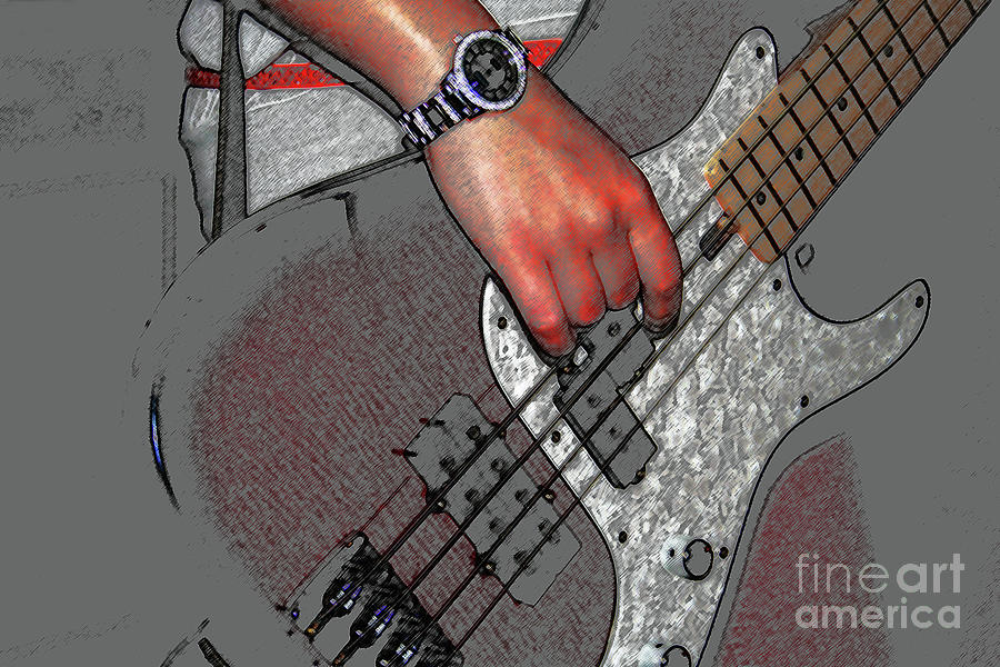 Guitar Photograph - Bass 4 by Alan Harman