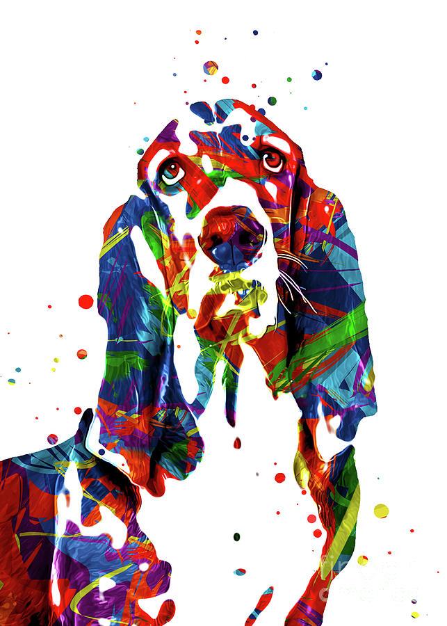Dog Digital Art - Basset Hound Art by Ian Mitchell