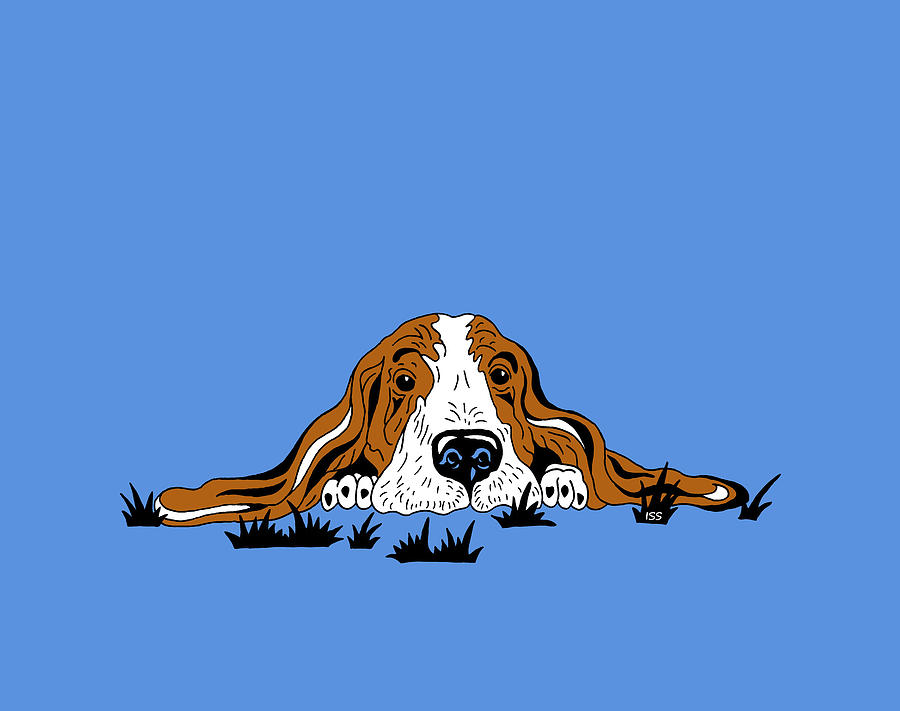Basset Puppy Painting