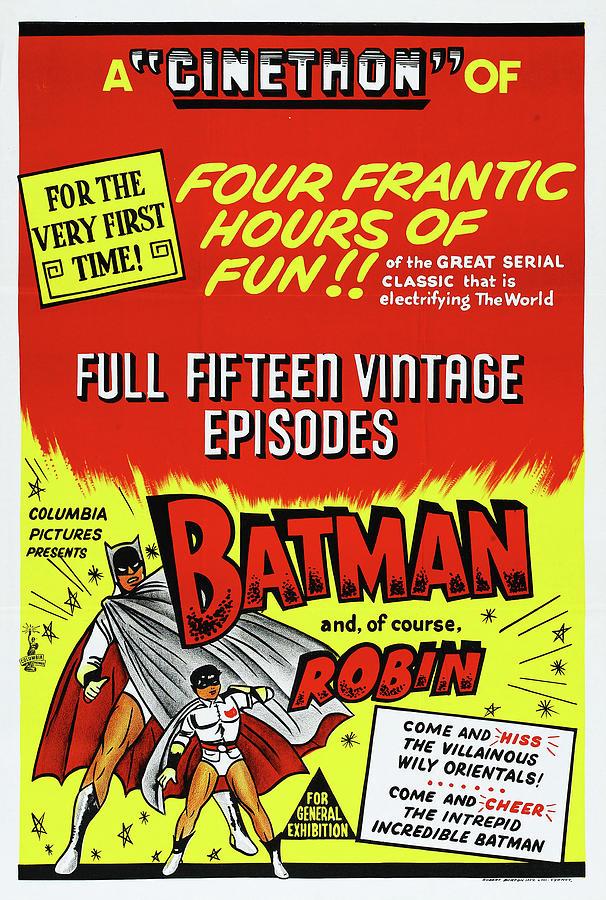 batman And Robin, 1949 Mixed Media