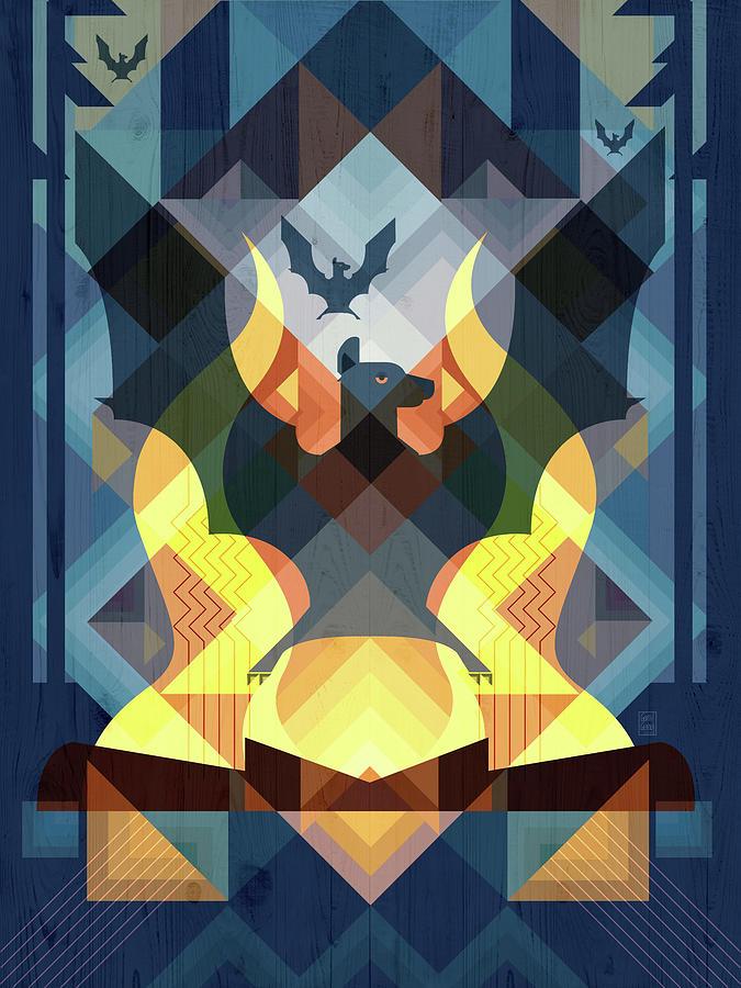 A Camp of Bats Print by Garth Glazier