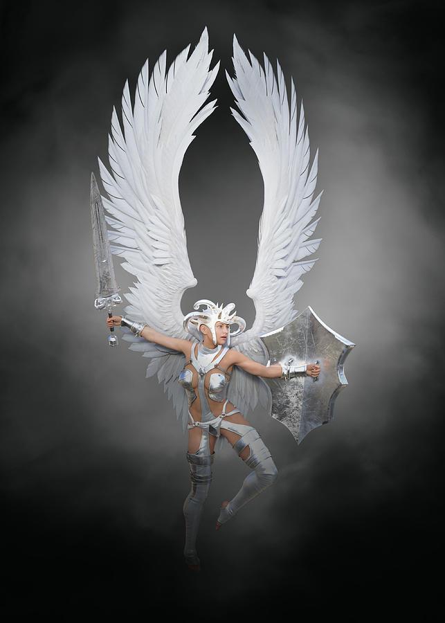 Battle Angel Fantasy 7 Digital Art