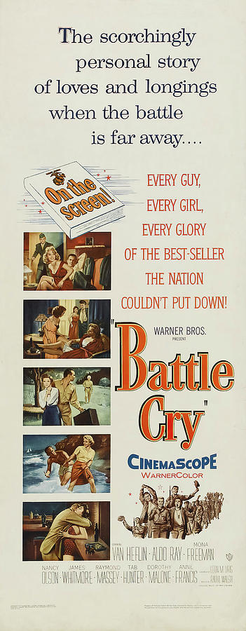 battle Cry, With Van Heflin And Aldo Ray, 1955 Mixed Media