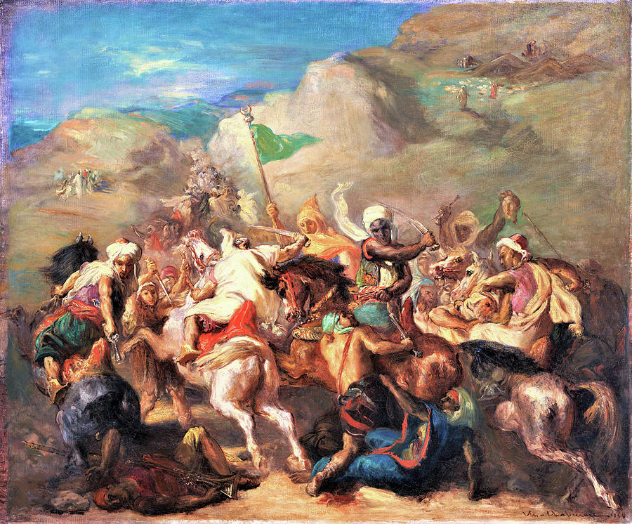 https://images.fineartamerica.com/images/artworkimages/mediumlarge/3/battle-of-arab-horsemen-around-a-standard-digital-remastered-edition-theodore-chasseriau.jpg