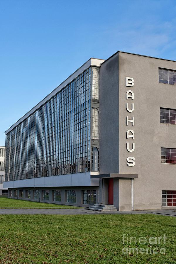 Bauhaus School By Walter Gropius In Dessau, Germany Photograph