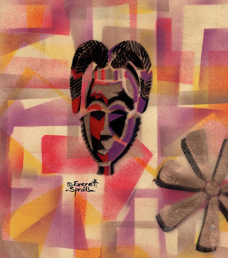 Baule Mask and Wisdom by Everett Spruill