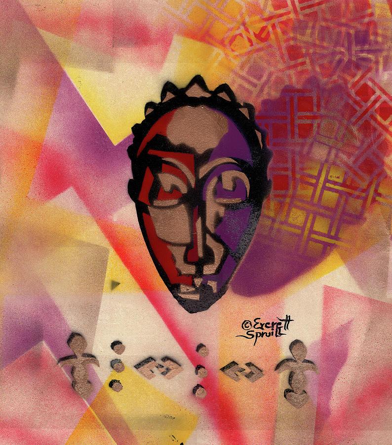 Baule Mask by Everett Spruill