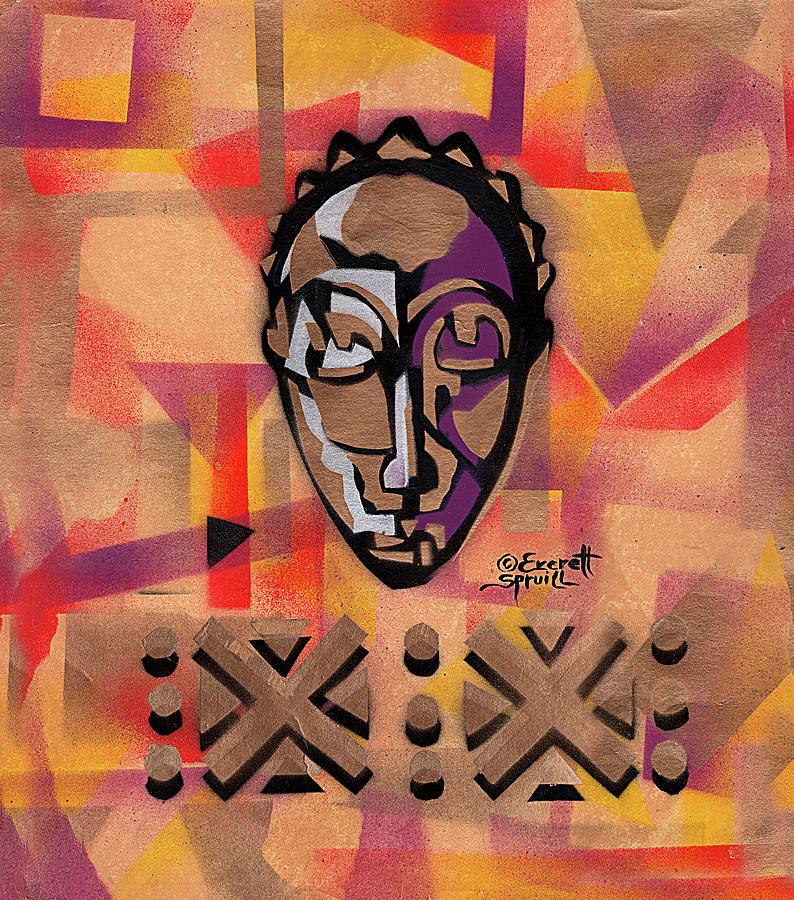 Baule Mask - Silver by Everett Spruill