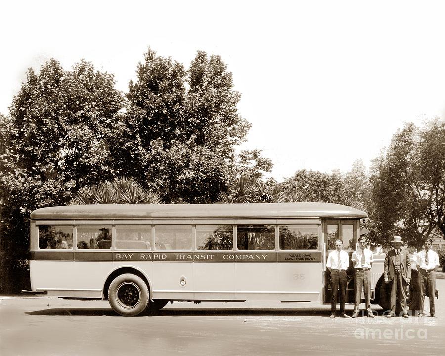 Bay Rapid Transit Cpmpany Bus Circa 1927 by California Views Archives Mr Pat Hathaway Archives