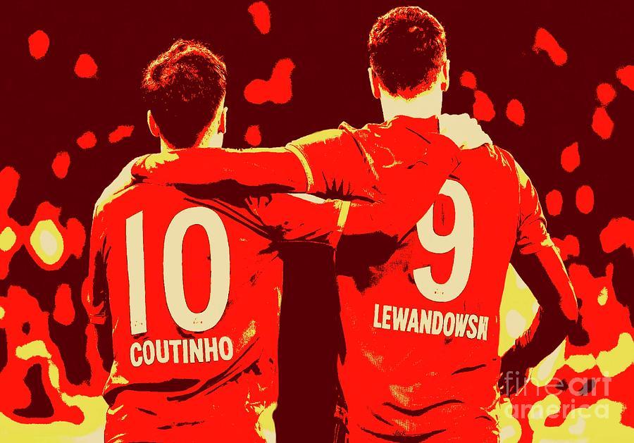 Lewandowski Painting - Bayern Munchen by Jack Bunds