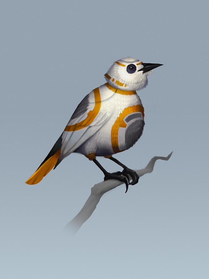 Birds Digital Art - BB Bird by Michael Myers