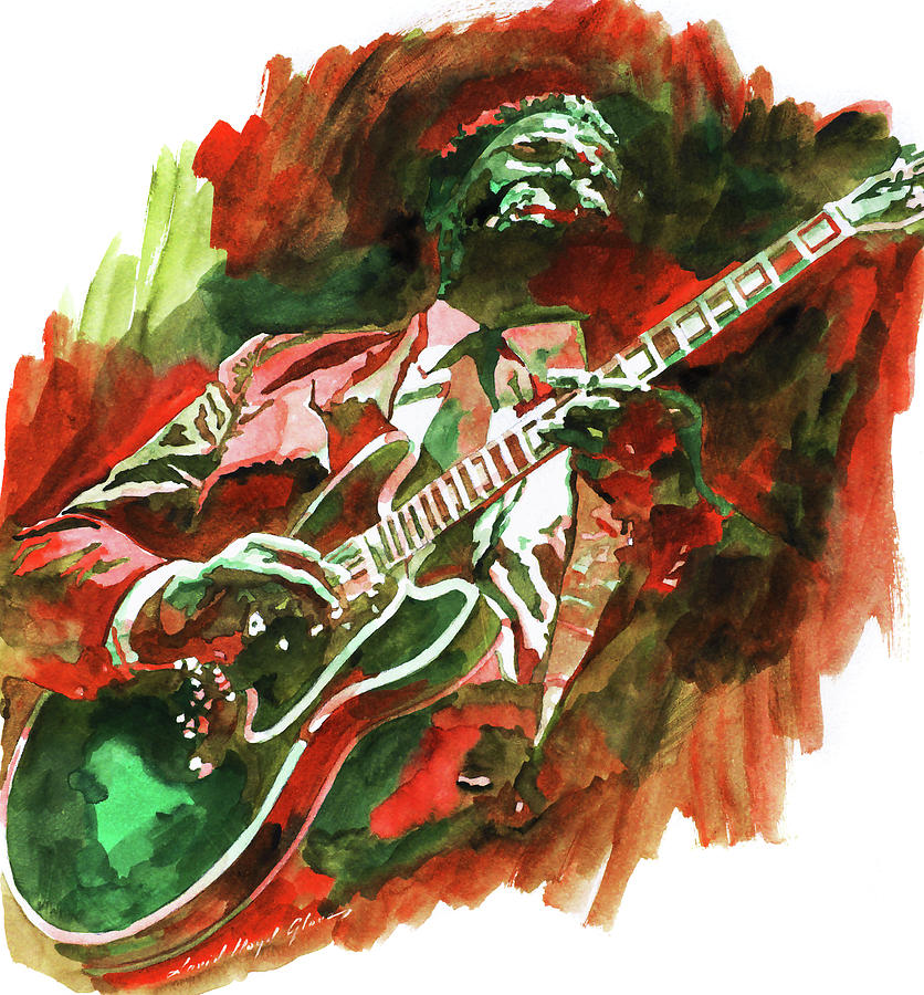 B.B. King Colors by David Lloyd Glover