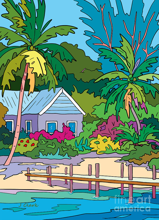 Beach And Dock Painting