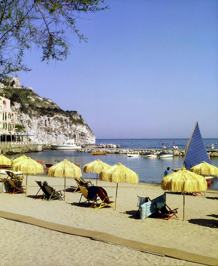 Beach at Lacco Ameno, Ischia Photograph by Horst P Horst