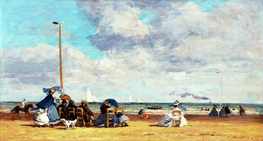 Beach At Trouville Painting - Beach At Trouville - Digital Remastered Edition by Eugene Louis Boudin