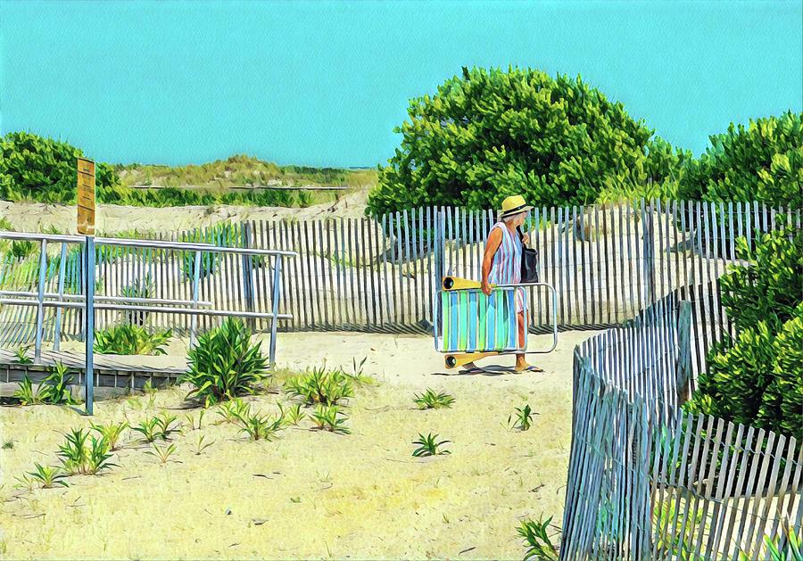 Beach Day Digital Art