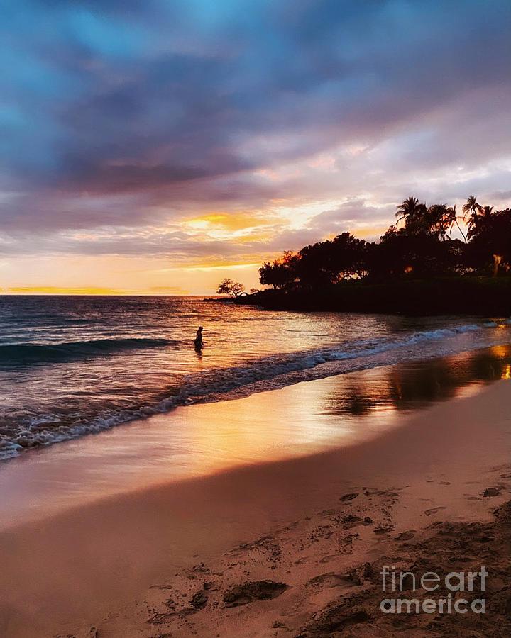 Beach Hotel Sunset Photograph