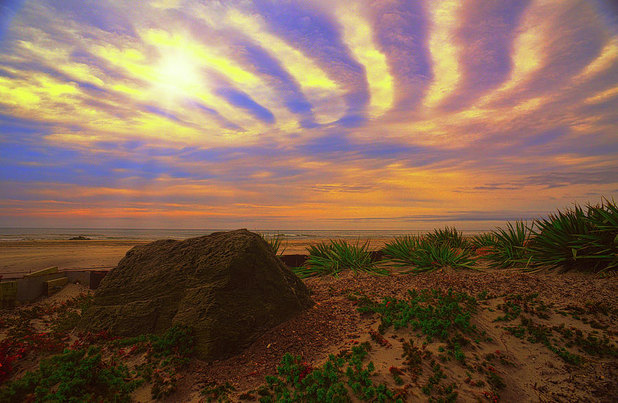 Beach inan odd light by Paul Ross