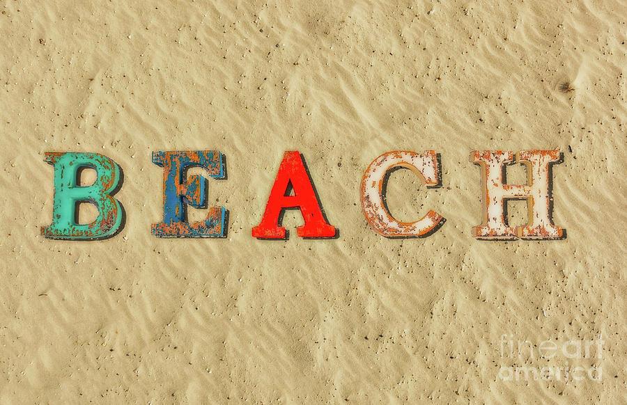 Beach Letters Sand Digital Art