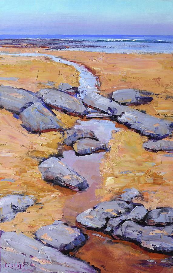 Beach Rocks Painting