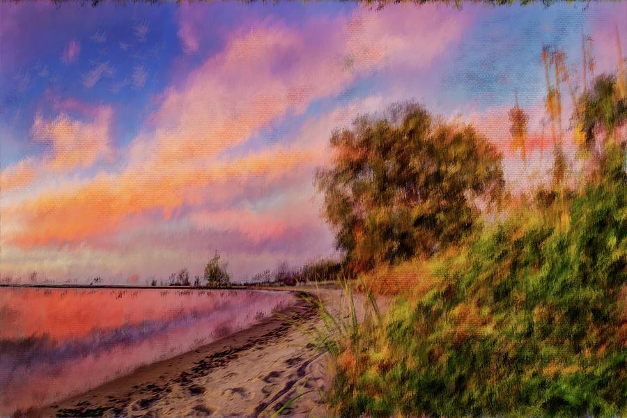 Beach Stroll by David Heilman