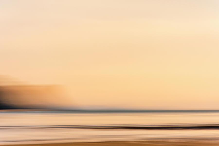 Beach Sunset Glow Photograph