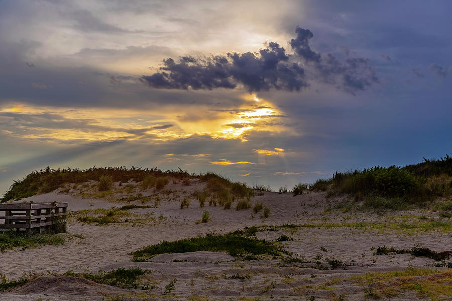 Beach Sunset In Cape Charles Photograph