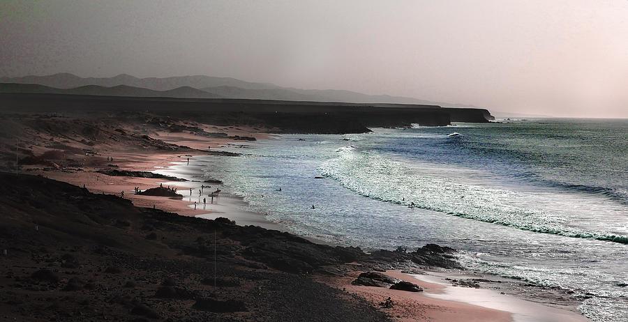 Beach Surf - Surreal Art By Ahmet Asar Digital Art