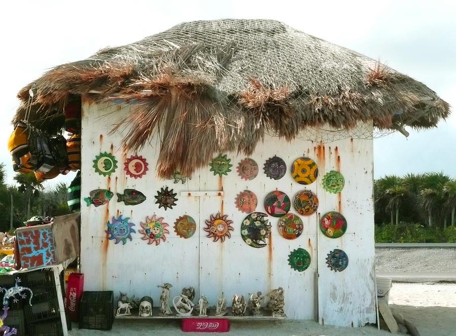 Beach Vendors Hut Digital Art