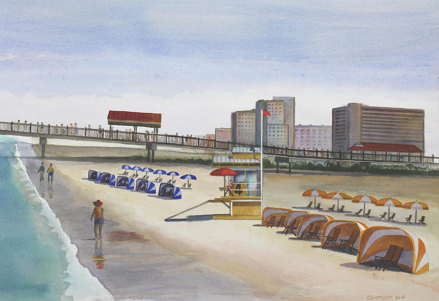 Clearwater Painting - Beach Walk Pier by Cory Clifford
