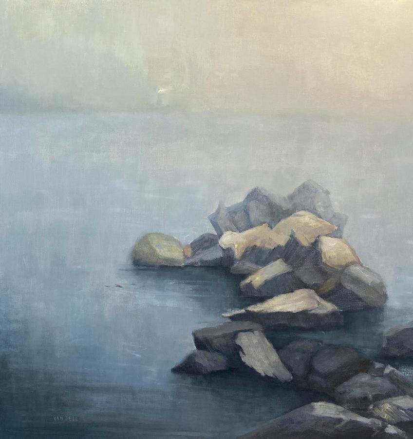 Beacon Painting by Mary Jo Van Dell