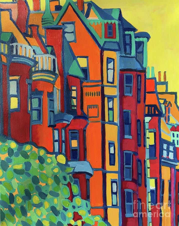 Architecture Painting - Beacon Street Back Bay Boston by Debra Bretton Robinson