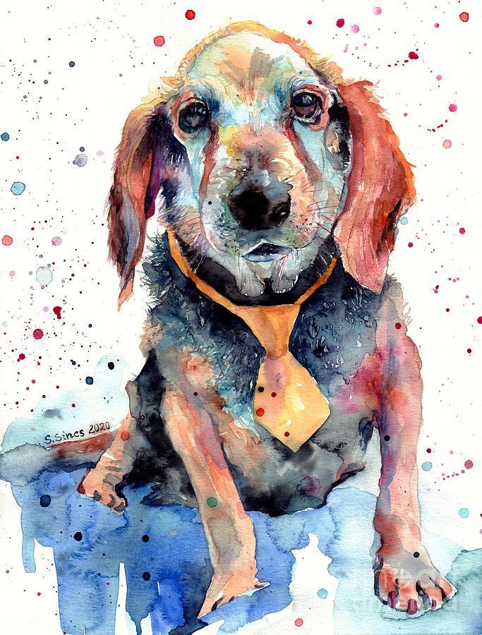 Beagle Painting - Beagle Portrait by Suzann Sines