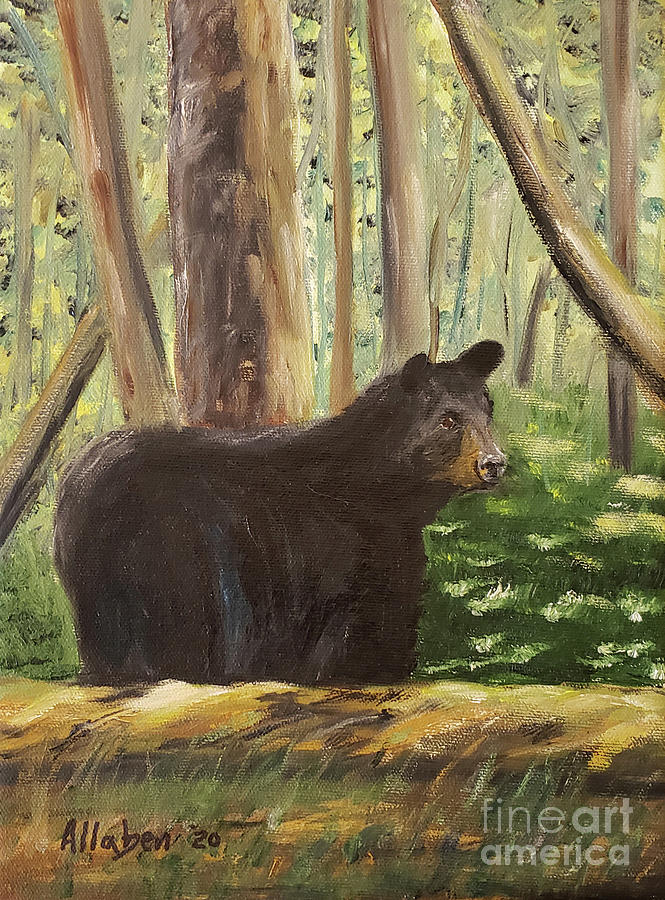 Black Bear Painting - Bear Country by Stanton Allaben