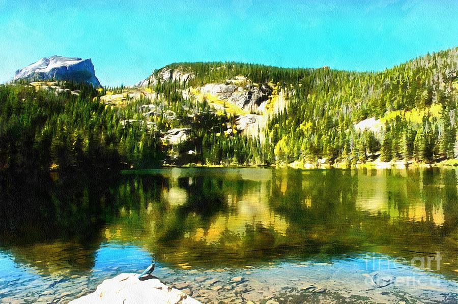 Bear Lake - Watercolor by Joseph Hendrix