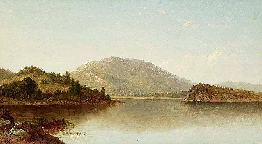 David Johnson Painting - Bear Mountain And Iona Island On The Hudson River, 1872 by David Johnson