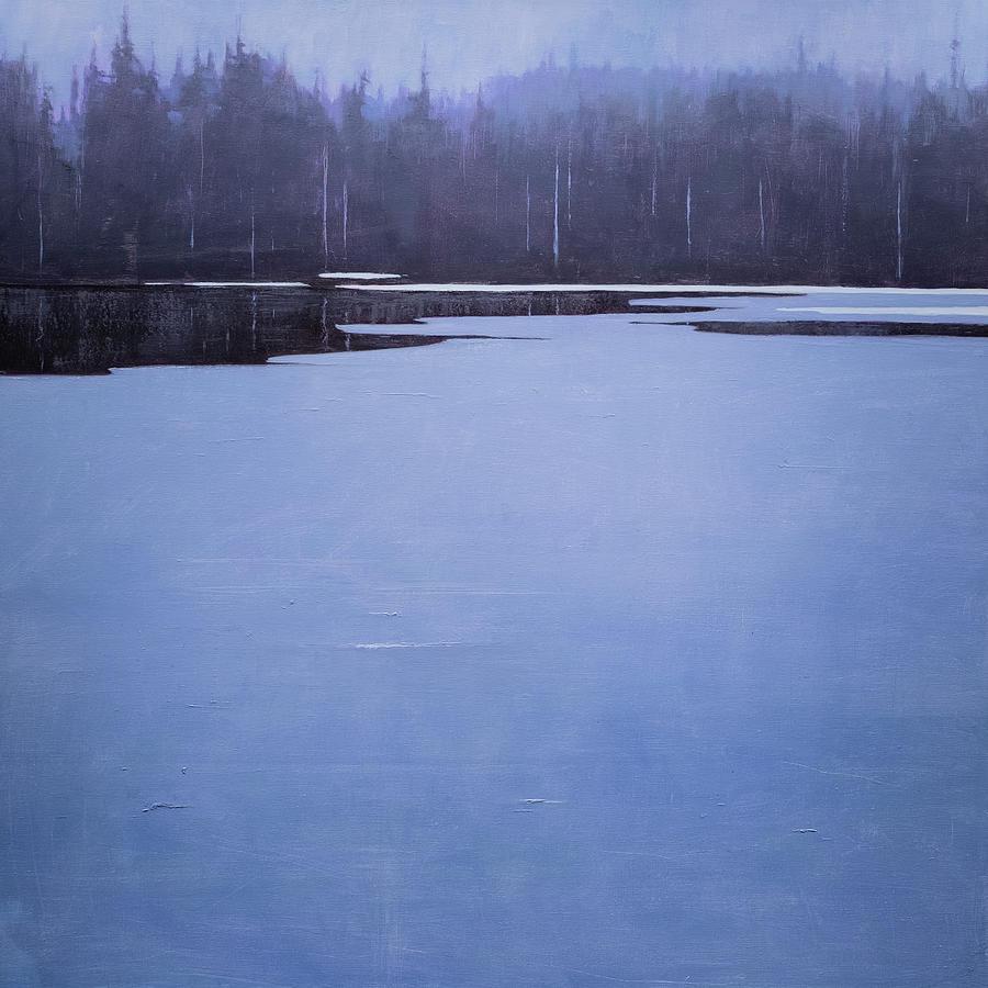 Bearskin Lake Painting by Mary Jo Van Dell