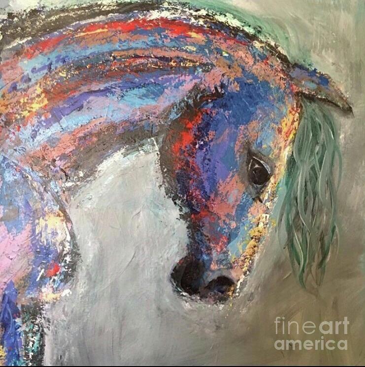 Horse Painting - Beast  by Mark Macko