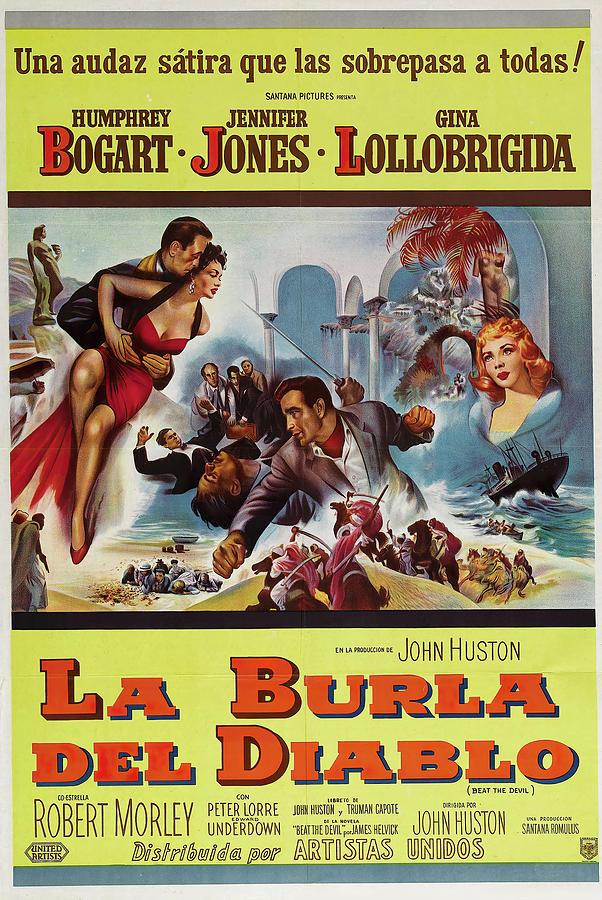 beat The Devil, With Humphrey Bogart And Jennifer Jones, 1953 Mixed Media